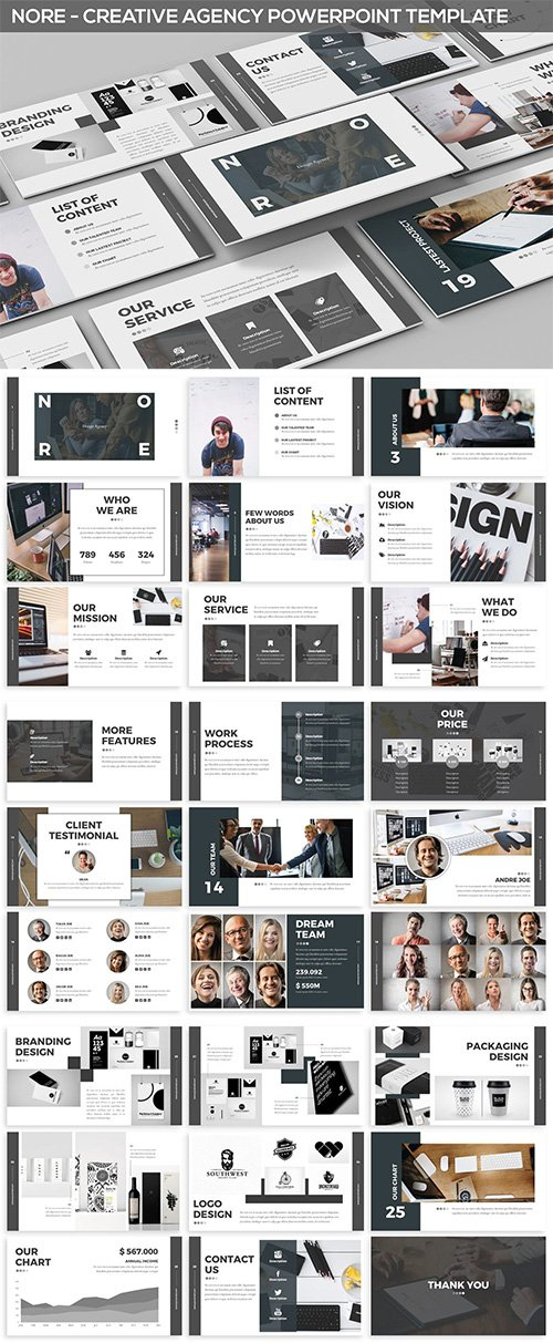 Nore - Design Agency Powerpoint Template