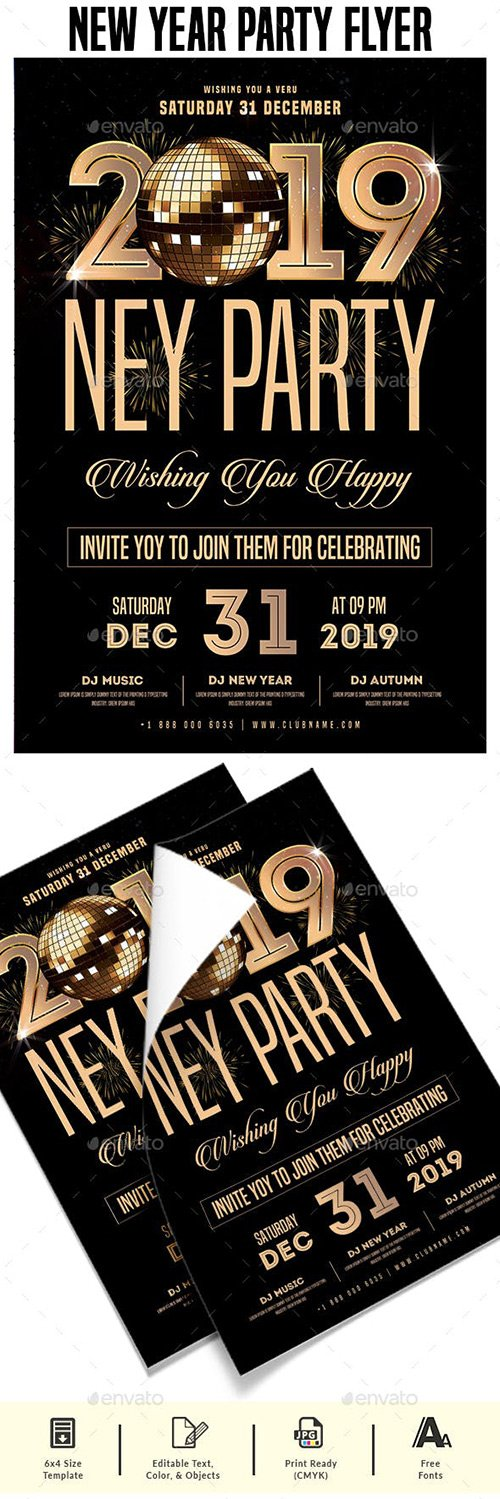 GraphicRiver - New Year Party Flyer 22710042