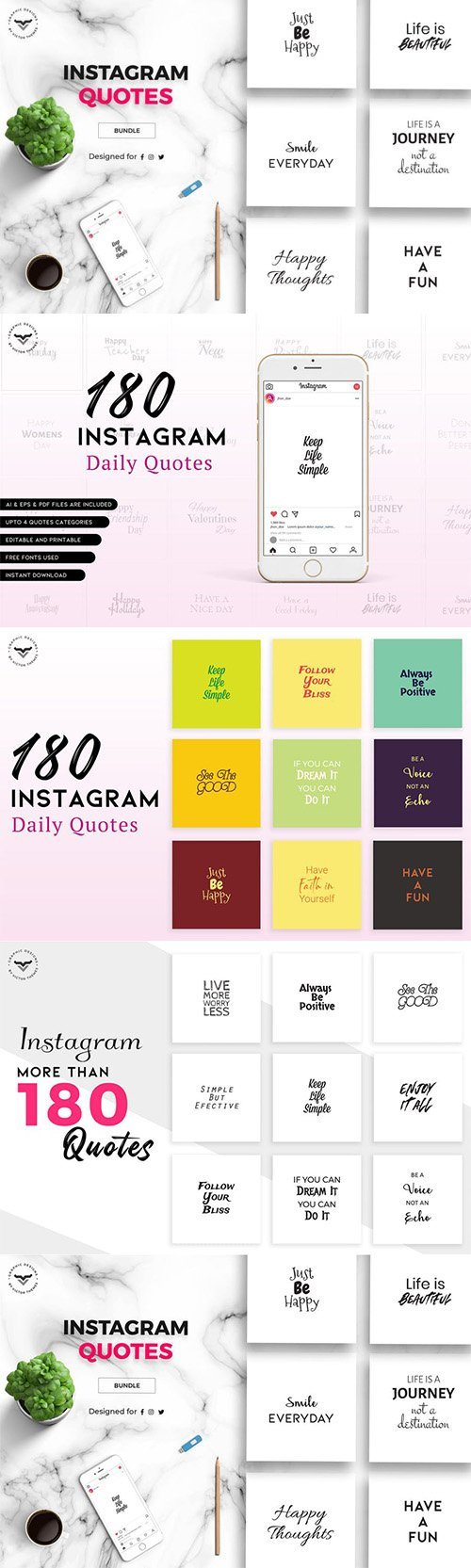 Instagram Quotes - Social Media Template