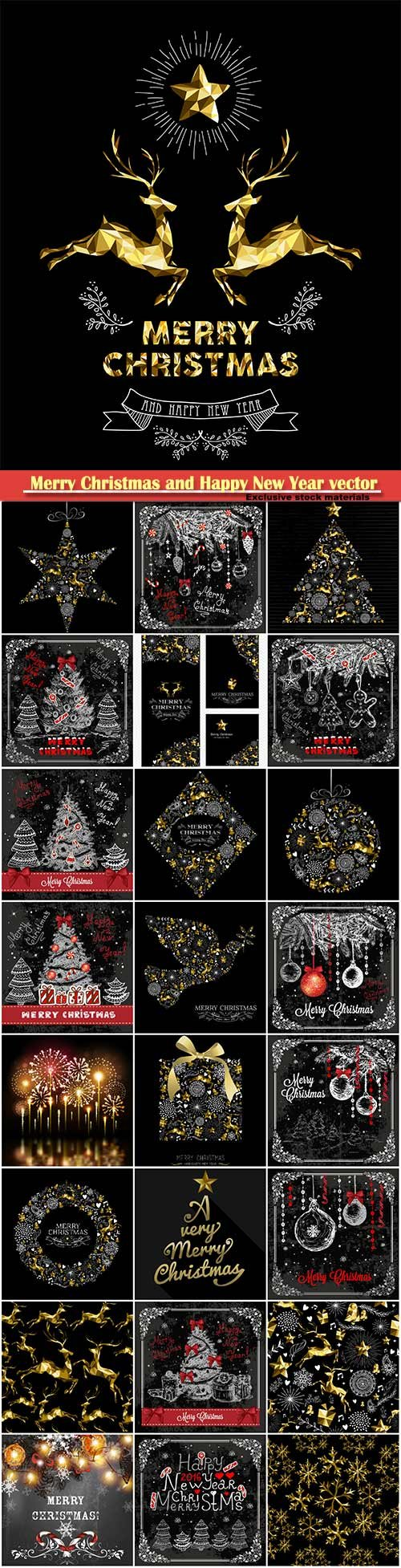 Merry Christmas and Happy New Year vector design # 17