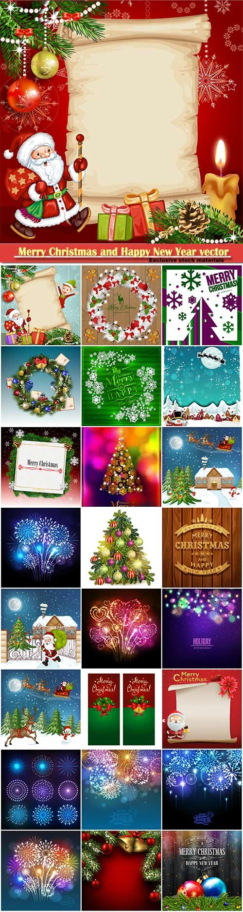 Merry Christmas and Happy New Year vector design # 22