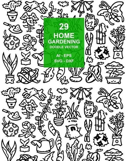 29 Home Garden Doodles