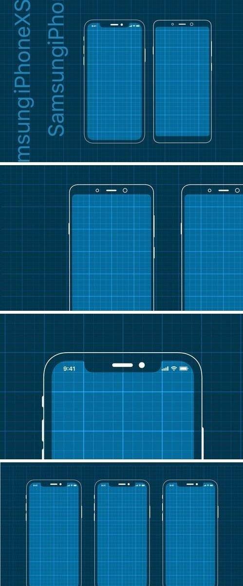 iPhoneXS and Samsung Prototype mockup