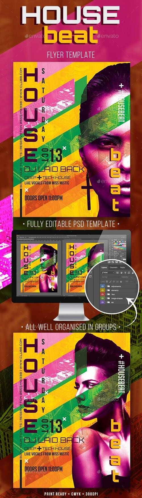 GraphicRiver - House Beat Flyer Template 22672291