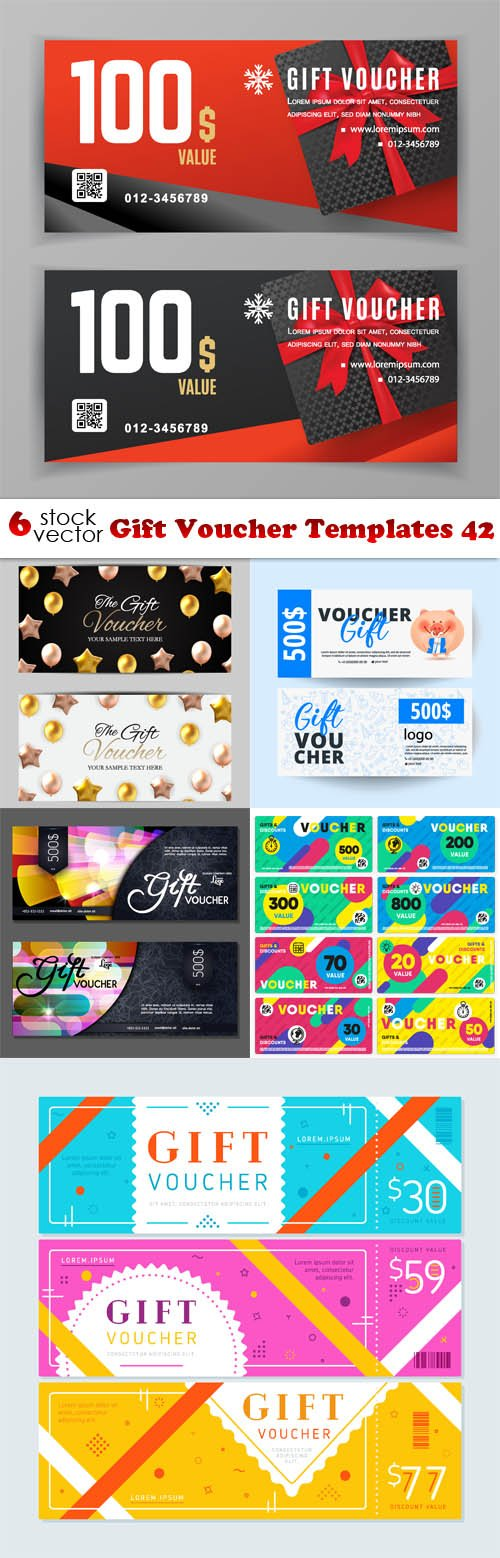 Vectors - Gift Voucher Templates 42