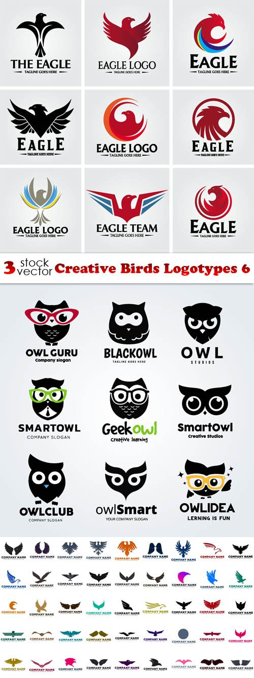Vectors - Creative Birds Logotypes 6