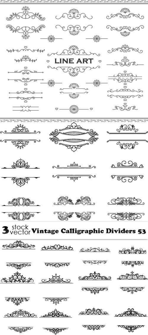 Vectors - Vintage Calligraphic Dividers 53