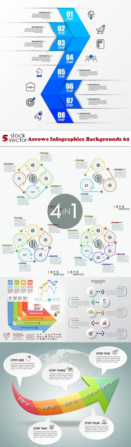Vectors - Arrows Infographics Backgrounds 62