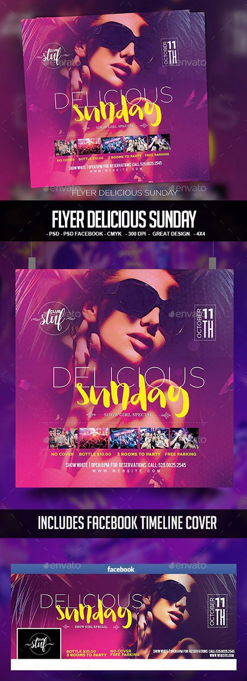 GraphicRiver - Flyer Delicious Sunday 22666531