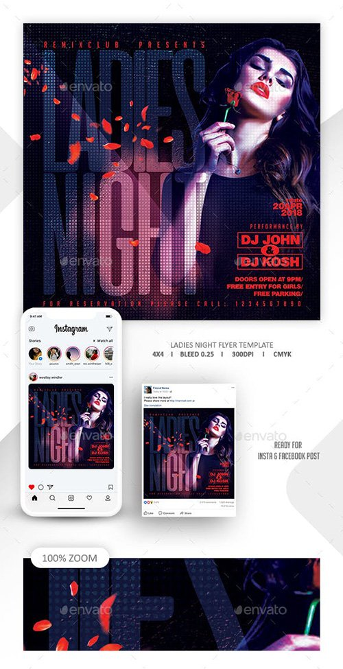 GraphicRiver - Ladies Night Flyer Template 22669831