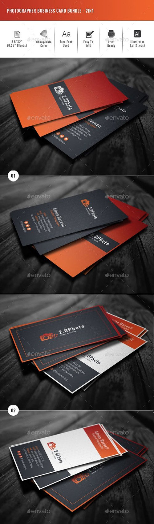 20 creative business card templates colorful unique