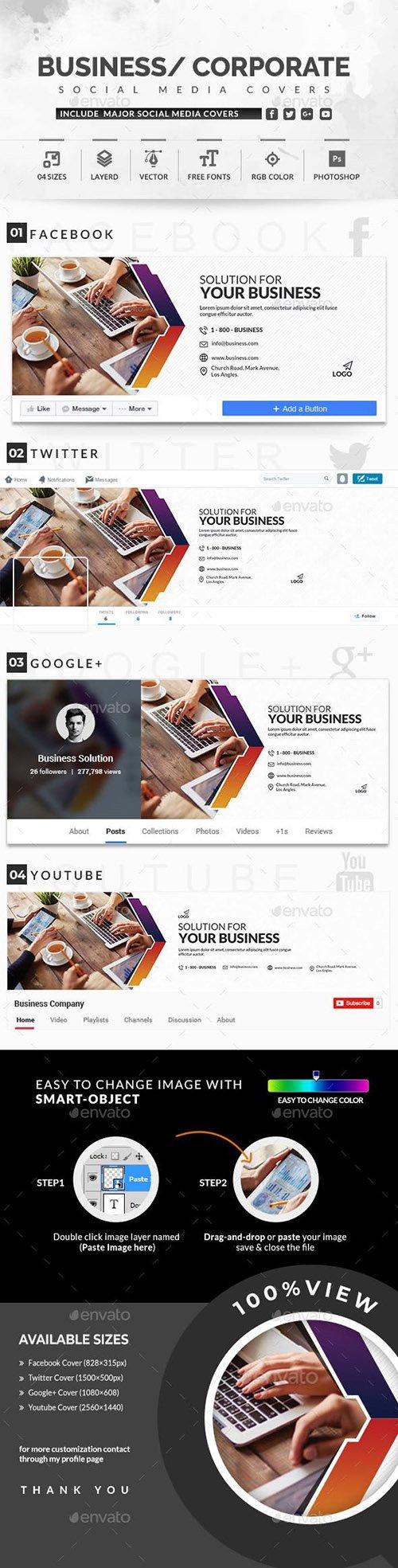 GraphicRiver - Social Media Covers 22710637