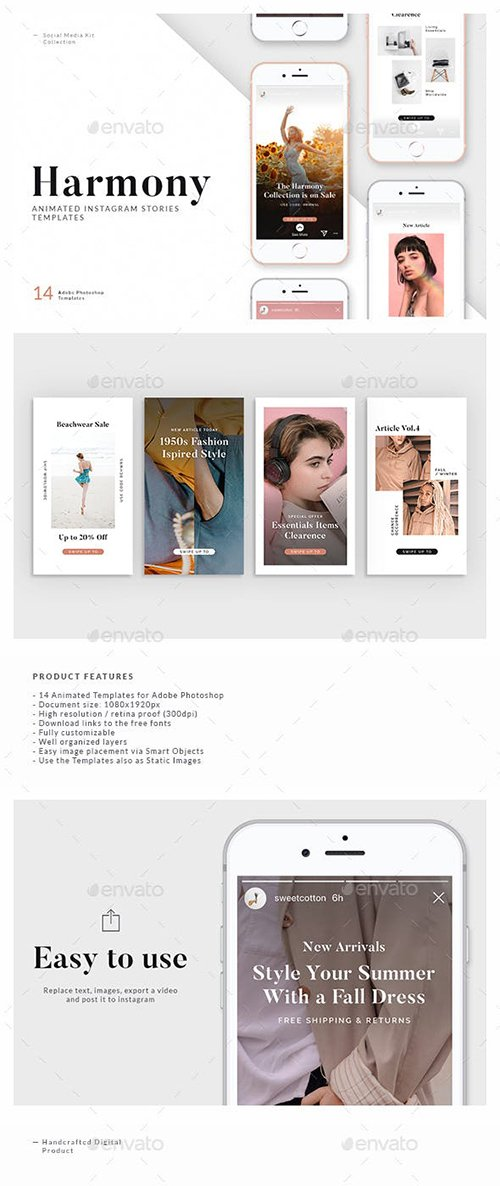GraphicRiver - Harmony — Animated Instagram Story Templates 22662701