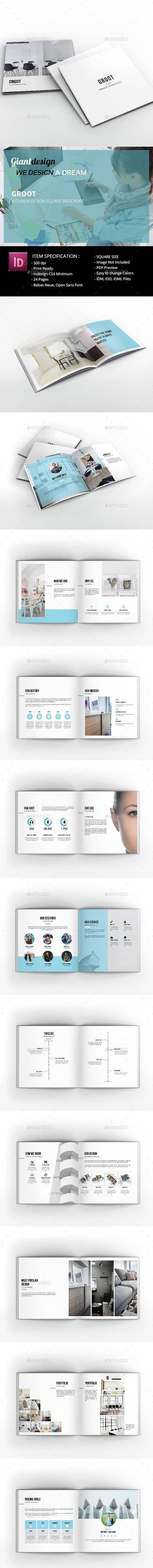 Graphicriver - Groot Interior Design Square Brochure 23000281