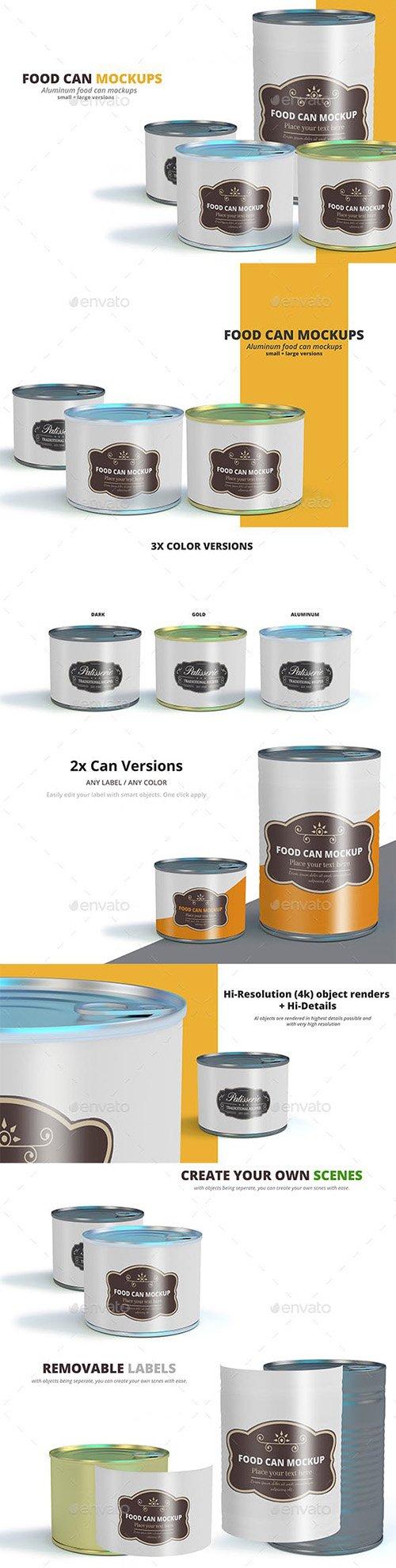GraphicRiver - Food Can Mockups 22544977