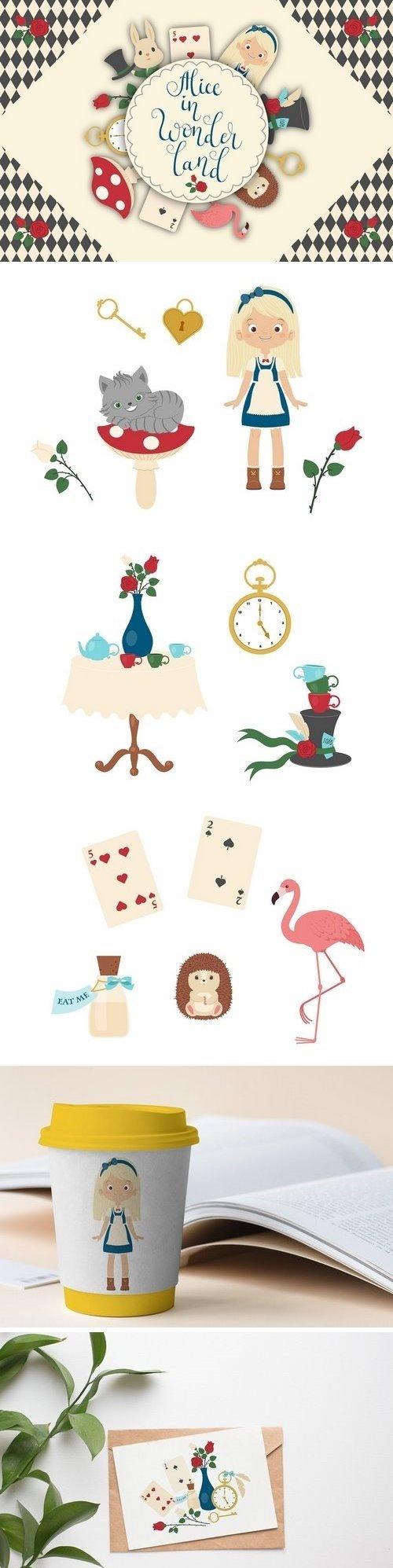 CM - Alice in Wonderland Vector Set 2724847