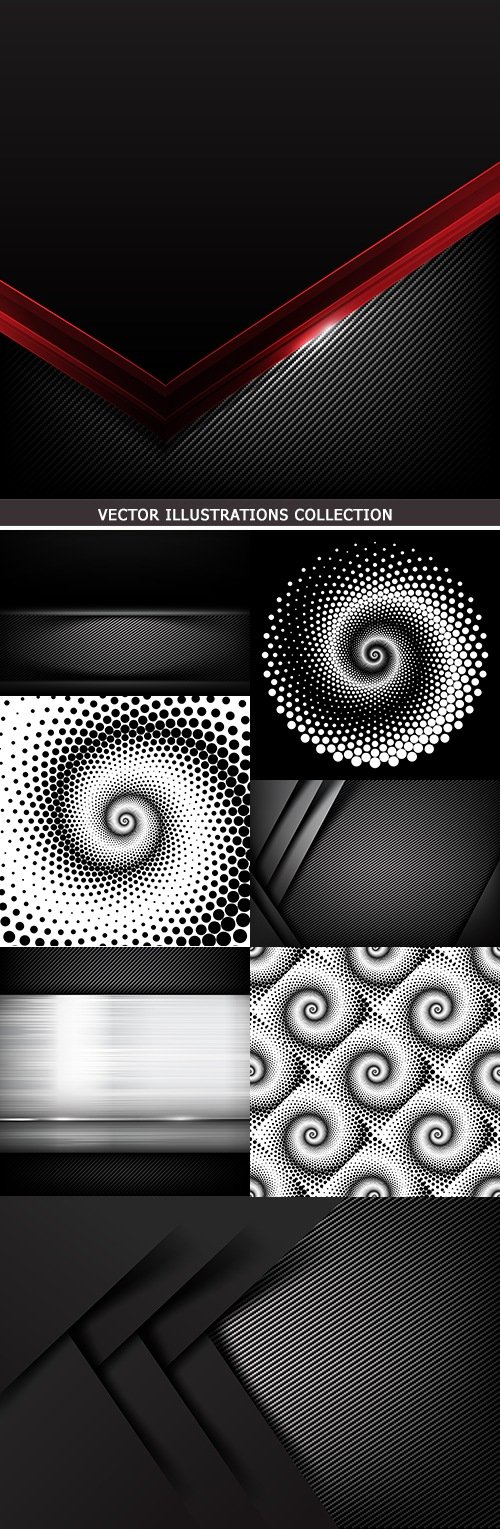 Dark carbon and dynamic circle abstract background