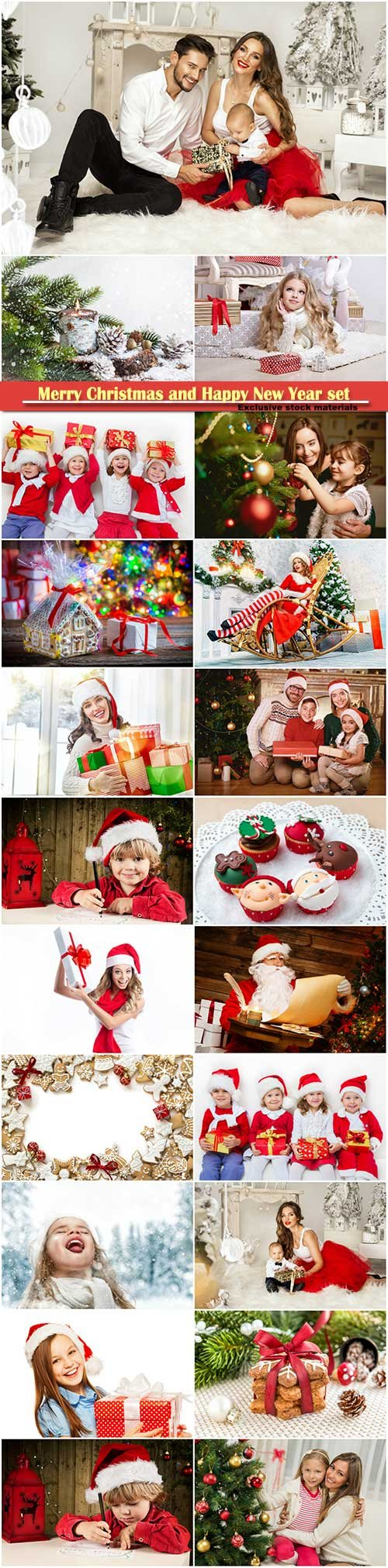 Merry Christmas and Happy New Year stock set # 5