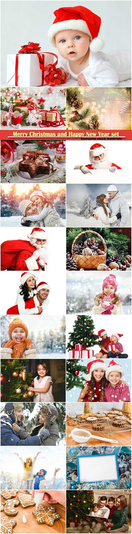 Merry Christmas and Happy New Year stock set # 3