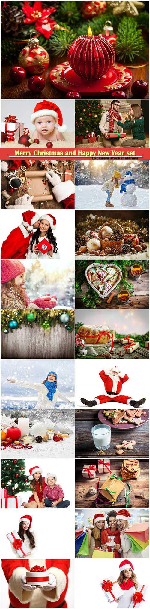 Merry Christmas and Happy New Year stock set # 8