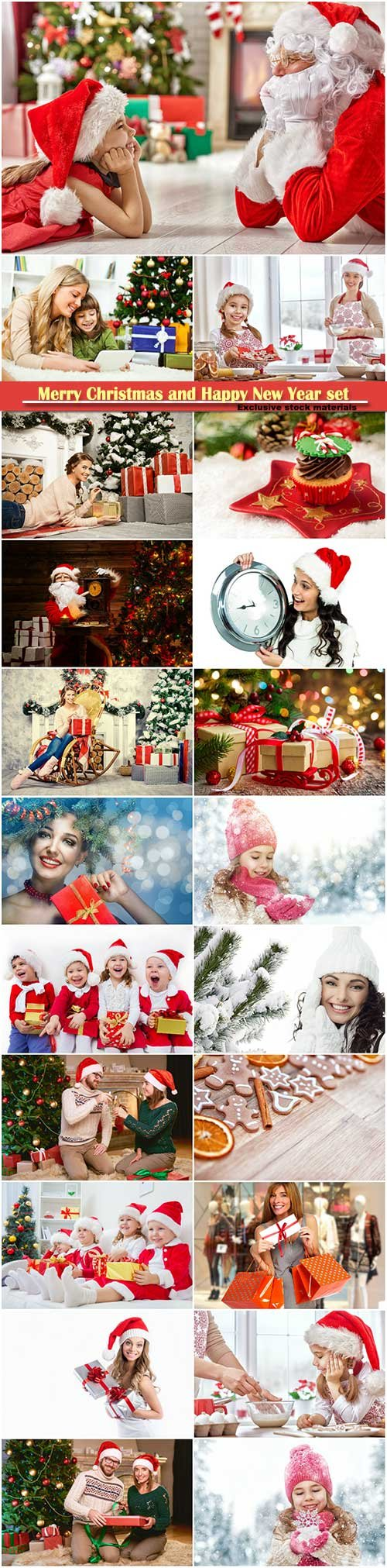 Merry Christmas and Happy New Year stock set # 4