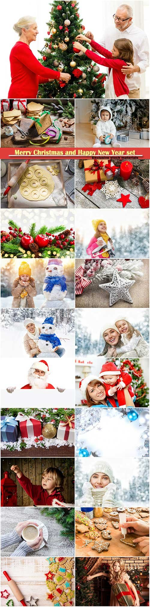 Merry Christmas and Happy New Year stock set # 7