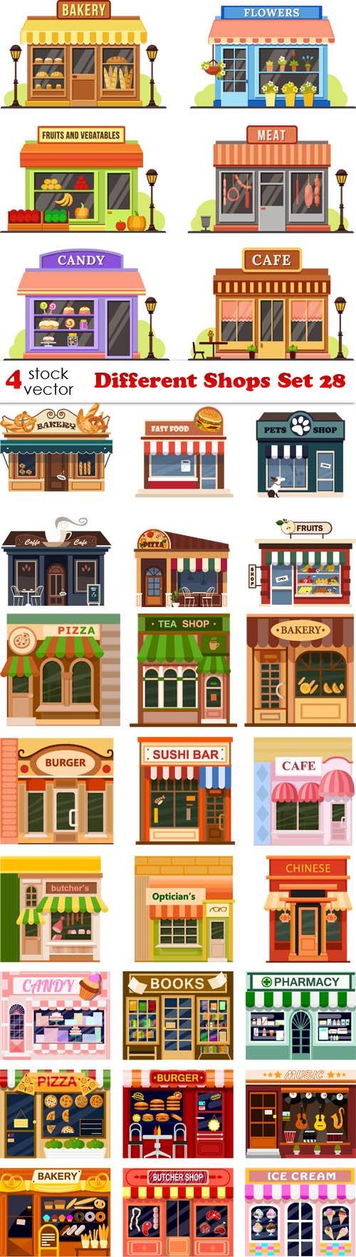 Vectors - Different Shops Set 28
