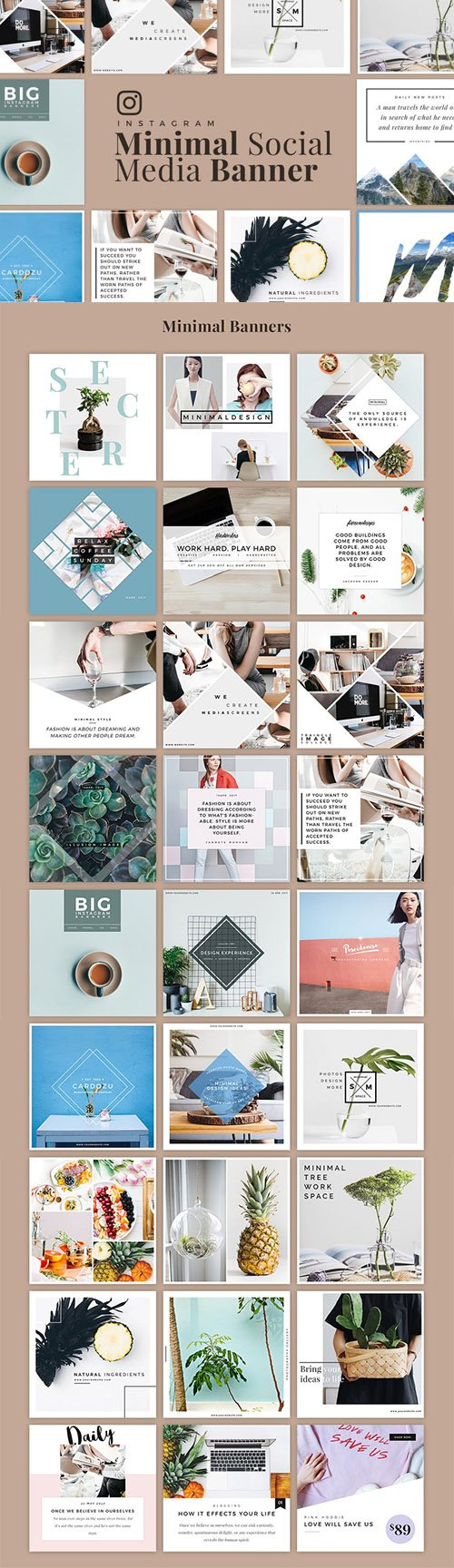 Minimal Instagram Banner Pack