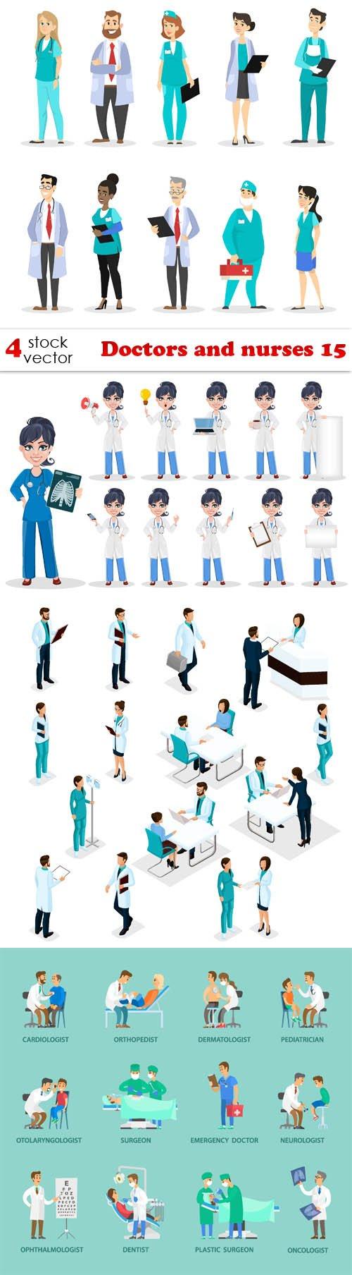 Vectors - Doctors and nurses 15