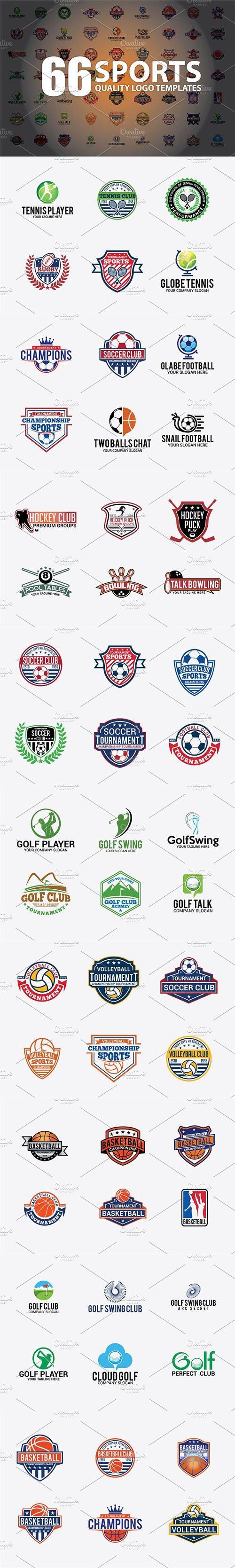 66 SPORTS Logo Templates BUNDLE 3317756