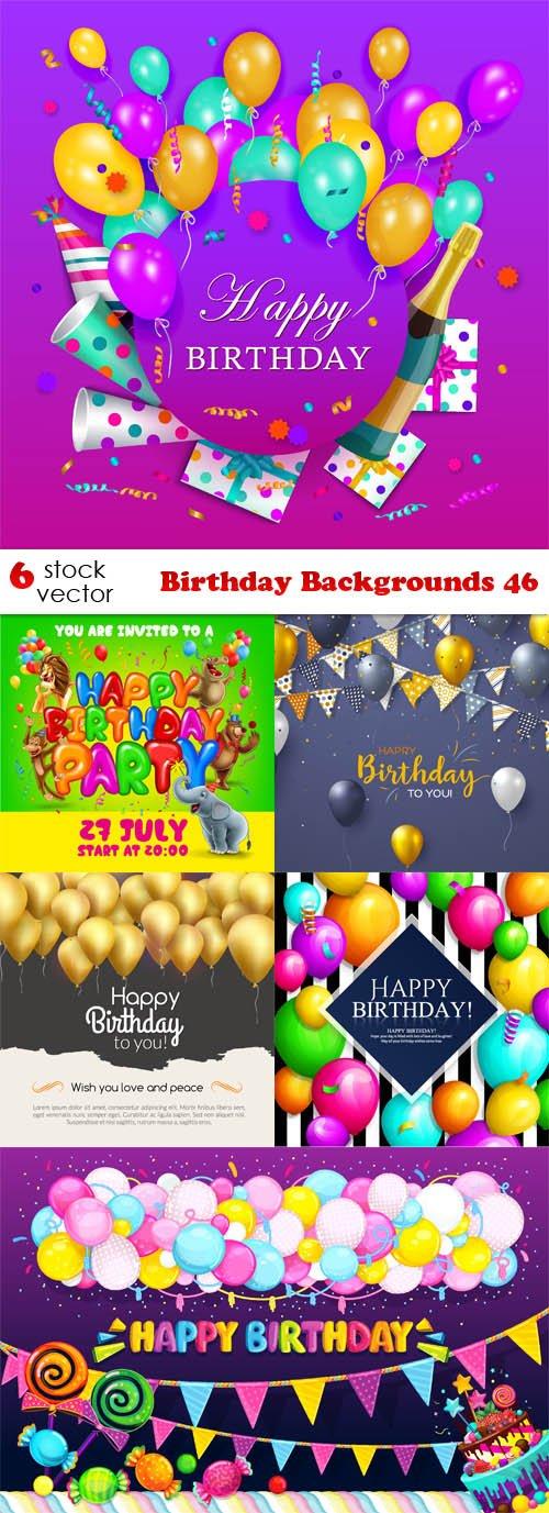 Vectors - Birthday Backgrounds 46