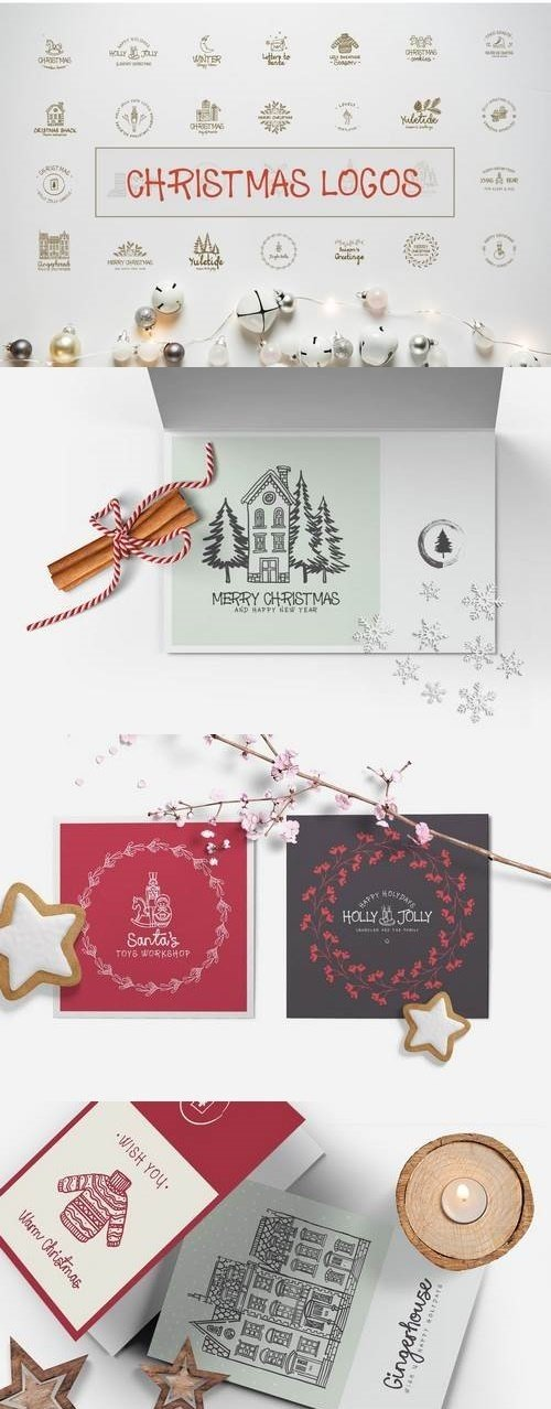 30 Winter Holiday Logos