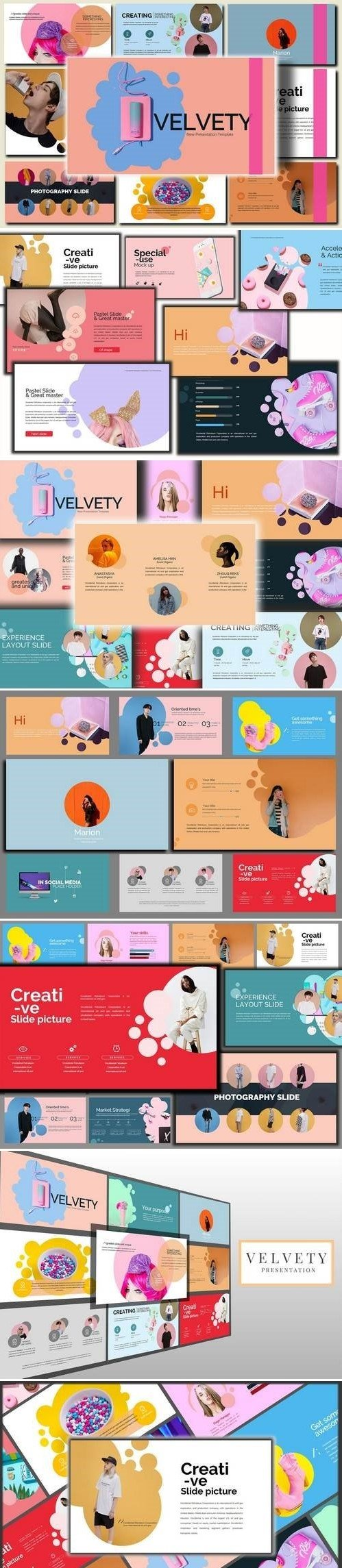Velvety Fashion Powerpoint and Keynote Template