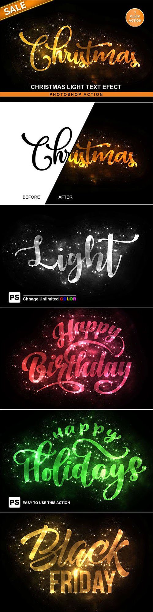 GraphicRiver - Christmas Text Effect Photoshop Action 22681467