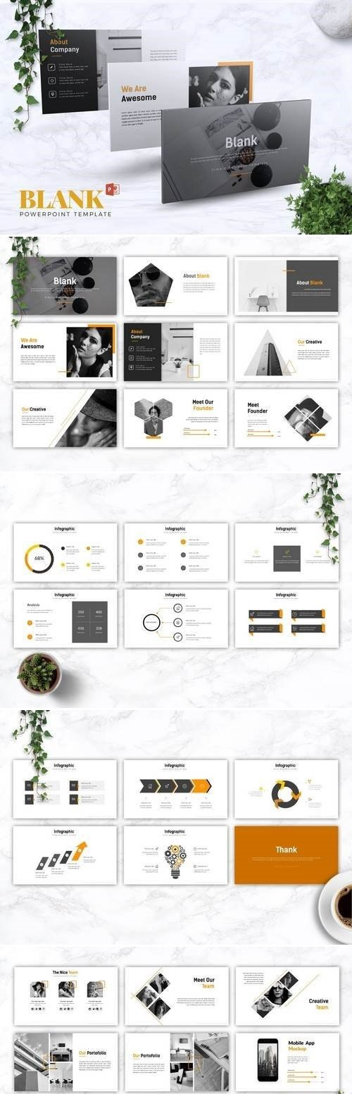 BLANK - Powerpoint, Keynote, Google Sliders Templates
