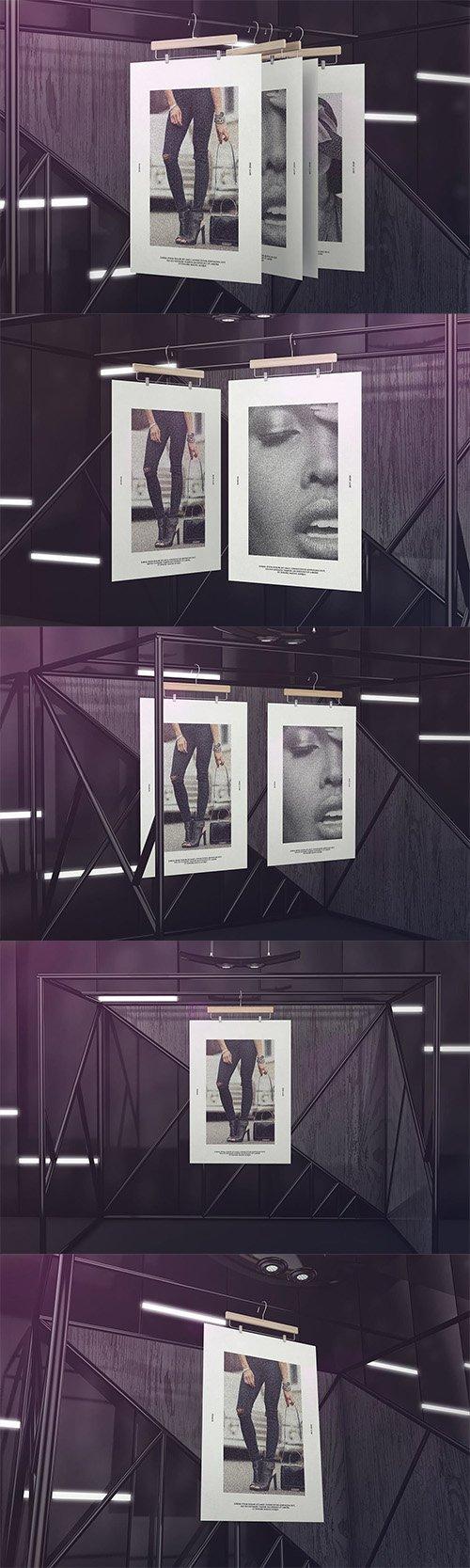 Exhibition Poster Framework Mockups