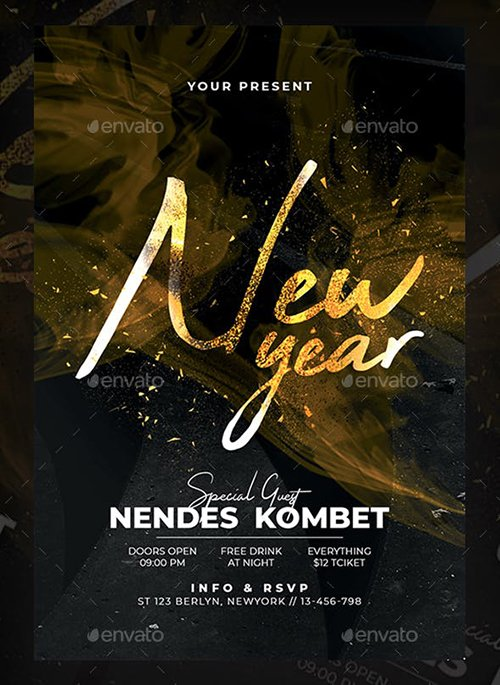 GraphicRiver - New Year Party Flyer Template 22967654
