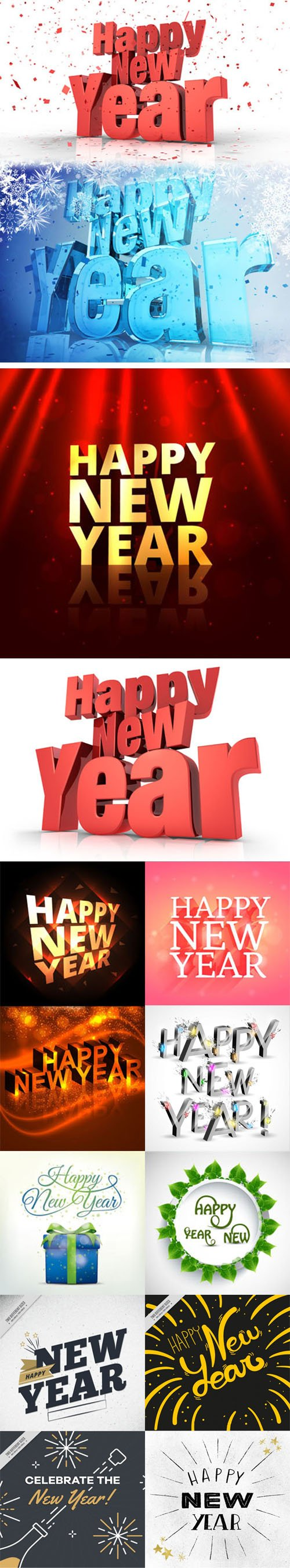 Happy New Year 2019 Background Vector Collection 3