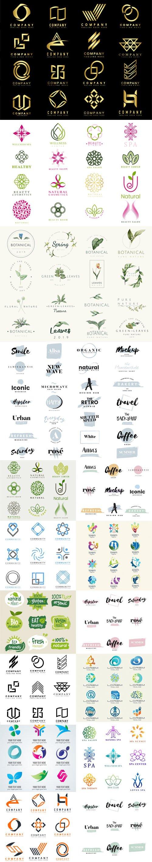 Colorful Logos & Branding Vector Collection