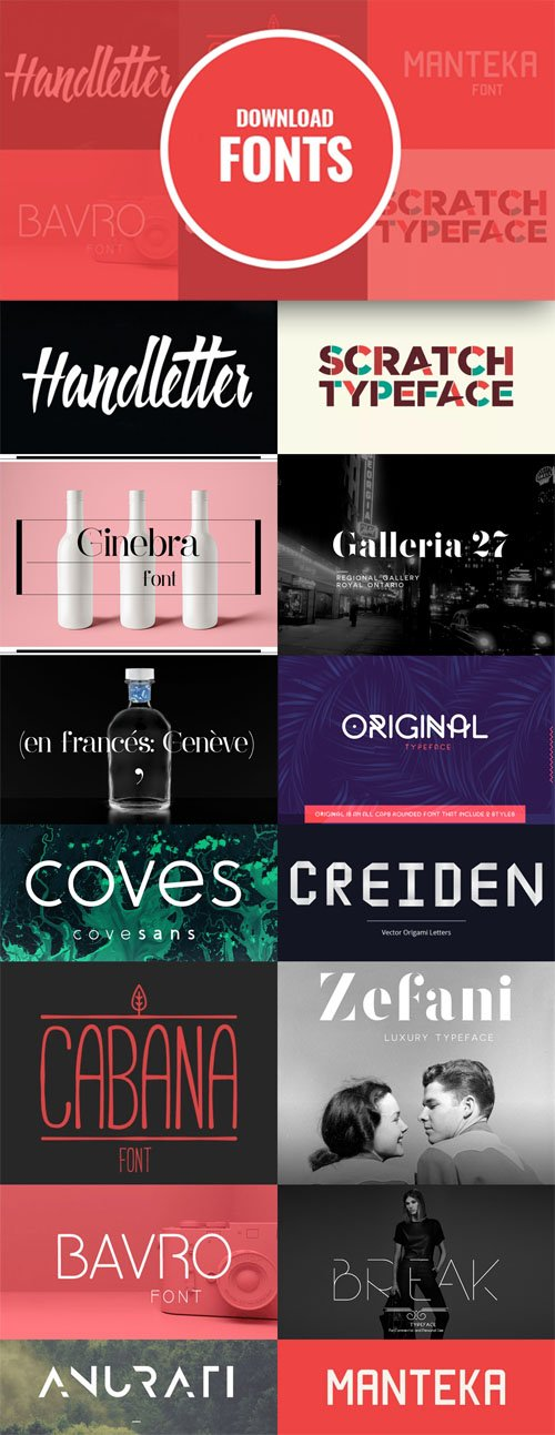 12 Unique Fonts Collection