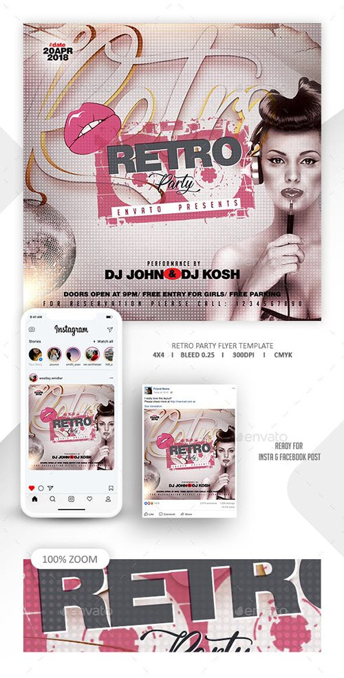 GraphicRiver - Retro Party Flyer Template 22675747