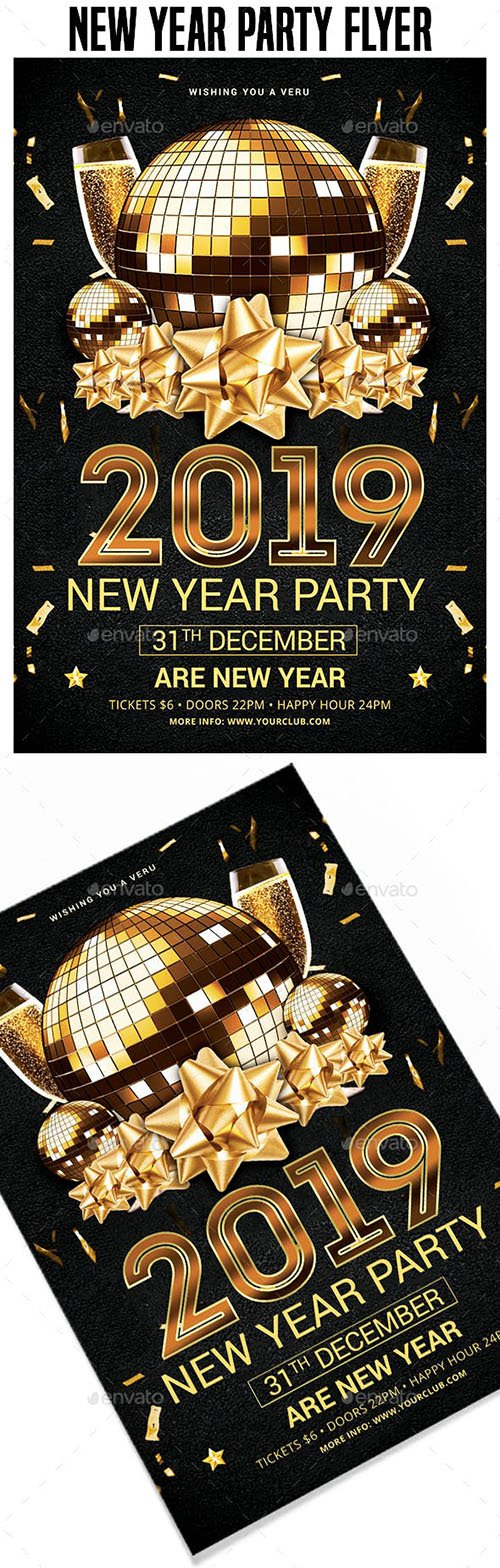 GraphicRiver - 2019 New Year Party Flyer Templates 22717110