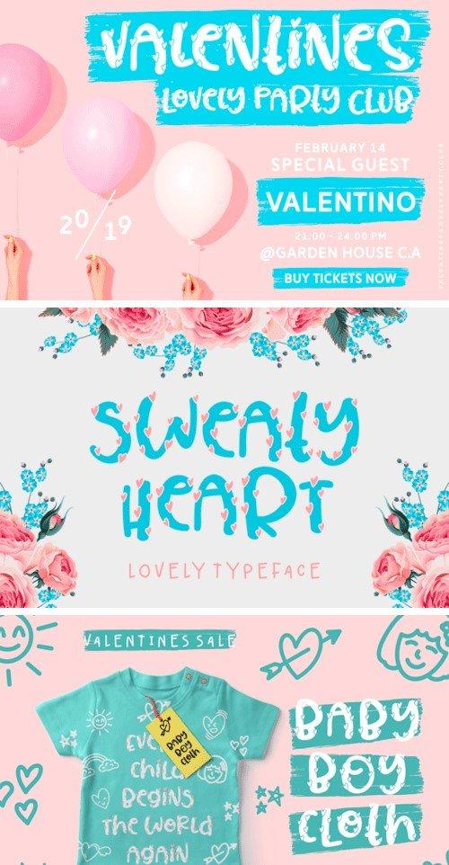 Sweaty Heart Font