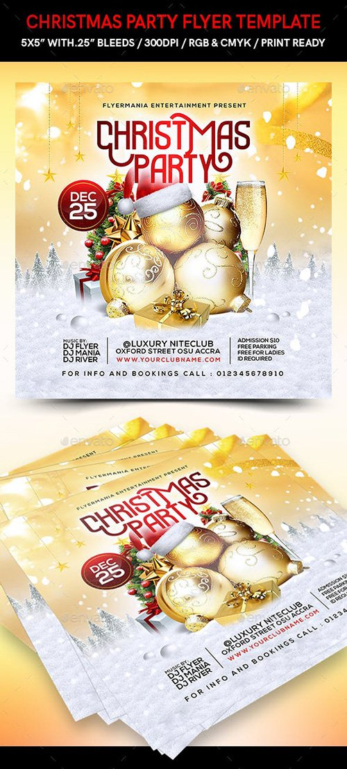 GraphicRiver - Christmas Party Flyer Template 22715269