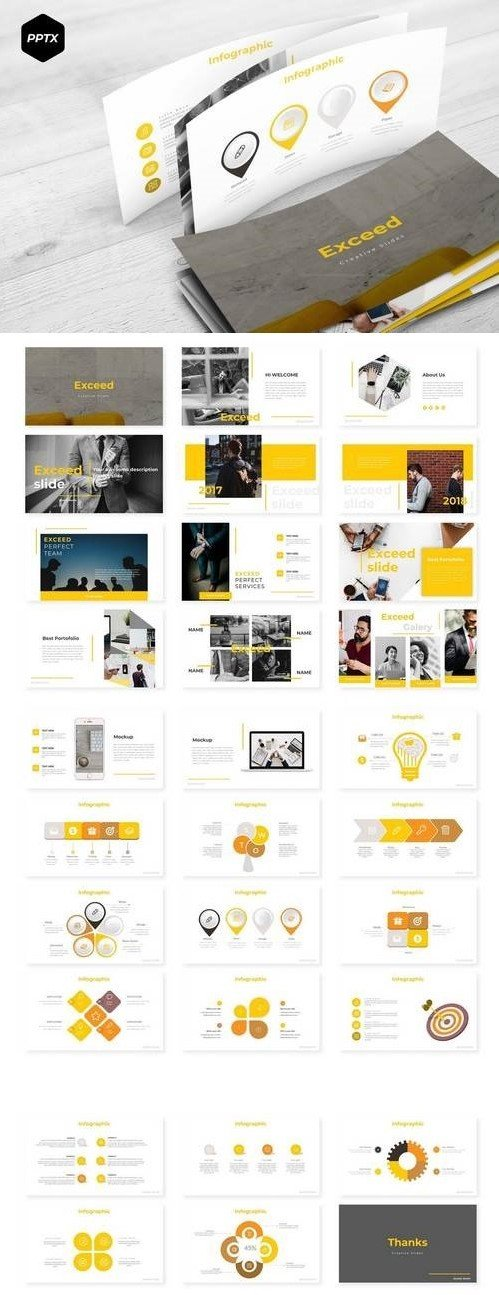 Exceed - Powerpoint, Keynote, Google Sliders Templates