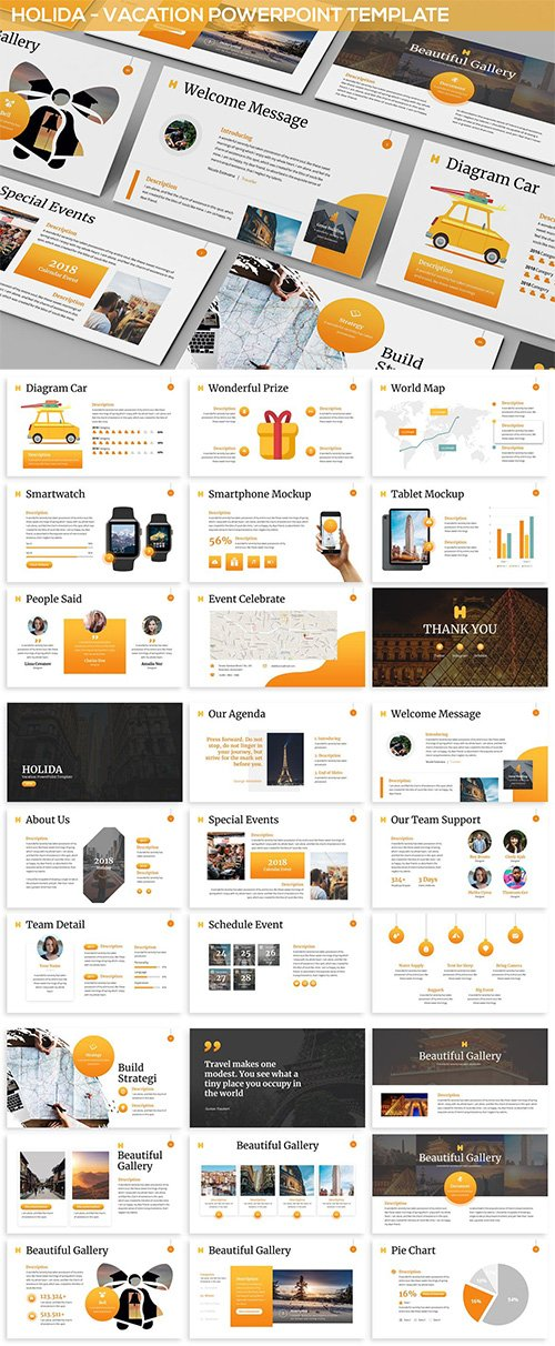 Holida - Vacation PowerPoint Template