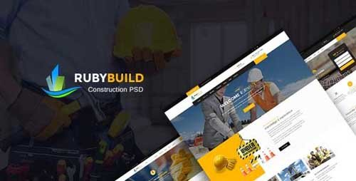 ThemeForest - RubyBuild v1.0 - Construction & Building PSD Template - 19684380