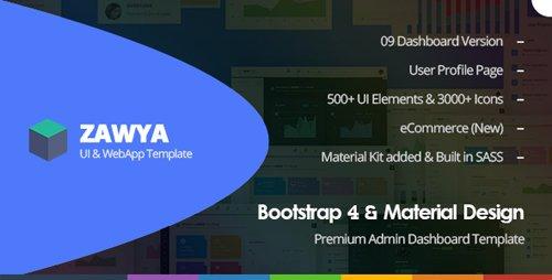 ThemeForest - Zawya v1.0 - Bootstrap 4 & Material Design Premium  Admin Dashboard Template - 21124918
