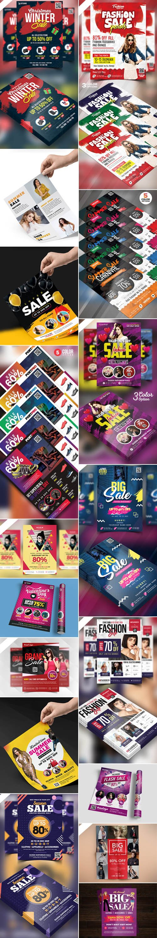 Multipurpose Sale Flyer PSD Templates Collection