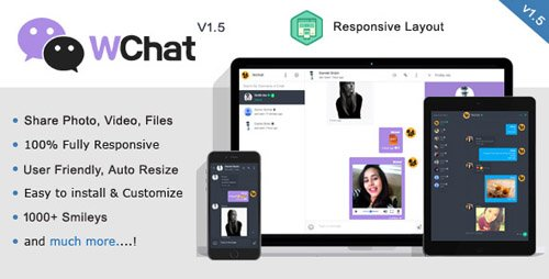 CodeCanyon - Wchat v1 6 - Fully Responsive PHP AJAX Chat Script